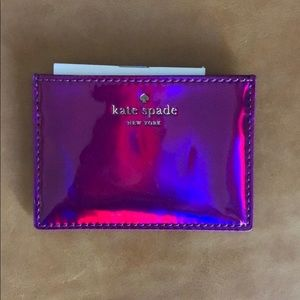 Kate Spade Iridescent Credit Card Case Card Holder